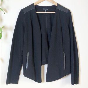 Eileen Fisher Angle Front Ponte Black Jacket EUC M